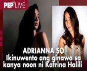 Sa unang pagkakataon, ikinuwento ni Adrianna So sa kanyang PEP Live EXTRA interview, kung ano ang ginawa sa kanya noon ni Katrina Halili. <br/><br/>Nabanggit kasi ng PEP Live EXTRA host na si Nikko Tuazon na ikinukumpara noon si Adrianna sa Kapuso actress na si Katrina. <br/><br/>Pareho rin kasing galing sa artista reality shows sina Katrina at Adrianna. Sa StarStruck ng GMA-7 si Katrina, habang sa Artista Academy naman ng TV5 si Adrianna. <br/><br/>Inilahad din ng The Sexth Sense host ang ilang payo na binigay sa kanya ng mga nakatrabaho niyang senior stars. <br/><br/>Para sa full PEP Live EXTRA interview ni Adrianna, i-click ang link na ito: https://bit.ly/3wEki5P<br/><br/>Host: Nikko Tuazon<br/>Video Producer: Rommel R. Llanes<br/>Video Editor: Ysabella Canlas<br/><br/>PEP Live EXTRA! streams every Wednesday at 8:00 p.m.<br/><br/>Check out our other live streaming shows as well: <br/>PEP Live! every Tuesday and Friday at 8:00 p.m.<br/>PEP Hot Stories Roundup every Friday at 8:00 p.m.<br/><br/>Know the latest in showbiz on http://www.pep.ph!<br/><br/>Subscribe to our YouTube channel! https://www.youtube.com/PEPMediabox<br/><br/>Follow us!<br/>Instagram: https://www.instagram.com/pepalerts/<br/>Facebook: https://www.facebook.com/PEPalerts<br/>Twitter: https://twitter.com/pepalerts<br/><br/>Visit our DailyMotion channel! https://www.dailymotion.com/PEPalerts<br/><br/>Join us on Viber: https://bit.ly/PEPonViber<br/><br/>Watch us on Kumu: pep.ph