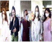 SPOTTED! Nimrat Kaur, Rahul Bose, Sunny Leone, Warina Hussain & Lakshmi Manchu at the Airport<br/>