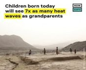 In a study published in the journal Science, researchers found that people born in 2020 will experience an average of 30 extreme heatwaves in their lifetimes, which is 7x more than someone born in 1960 — even if countries fulfill their promises to cut future carbon emissions. Compared to today's 60-year-olds, today's babies will go through twice as many droughts and wildfires and 3x as many floods and crop failures. And these are likely underestimates.<br/><br/>These natural disasters will hit the children of the global South the hardest. Under current emissions pledges, children born between 2016 and 2020 in Europe and Central Asia will go through 4x more extreme events, while those born in sub-Saharan Africa will go through 5.7x more. <br/><br/>As the world goes into the COP26 climate summit in November, youth around the world are protesting for more drastic climate action. The research found that only those currently under the age of 40 will see the effects of emissions reductions made now, while those older people will be dead before they experience the full extent of the changing climate. Their choices matter to younger generations — keeping the world below 1.5°C will cut future heat waves in half, and keeping the world below 2°C will cut the number of heatwaves by a quarter.<br/><br/>Future Twit:<br/>In a study published in the journal Science, researchers found that people born in 2020 will experience an average of 30 extreme heatwaves in their lifetimes, which is 7x more than someone born in 1960.<br/><br/>Read the full thread: https://go.nowth.is/3CNmuuU