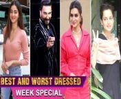 Here's Presenting Week's Best & Worst Dressed Of the Bollywood Stars Kangana Ranaut, Deepika Padukone, Kareena Kapoor, Shilpa Shetty, Nora Fatehi. Watch out!<br/>