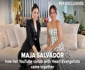 Maja Salvador has been working hard to make her YouTube channel, Meet Maja, engaging and inviting for fans.<br/><br/>The actress sees this platform as an opportunity to reintroduce herself to them, revealing her authentic self and not just her star persona.<br/><br/>One of the exciting contents that fans should look forward to is her collaboration with fellow stars in the business.<br/><br/>Maja already started these collaborations with Heart Evangelista as her first guest.<br/><br/>Their online team-up was a dream come true for Maja since the ABS-CBN actress had been a long-time fan of the GMA-7 talent. <br/><br/>PEP.ph (Philippine Entertainment Portal) met up with Maja for a virtual one-on-one chat on March 15, 2021.<br/><br/>#MajaSalvador #HeartEvangelista #MajaSalvadorOnPEP<br/><br/>Video Producer/Editor: FM Ganal<br/><br/>Know the latest in showbiz on http://www.pep.ph!<br/><br/>Subscribe to our YouTube channel! https://www.youtube.com/PEPMediabox<br/><br/>Follow us!<br/>Instagram: https://www.instagram.com/pepalerts/<br/>Facebook: https://www.facebook.com/PEPalerts<br/>Twitter: https://twitter.com/pepalerts<br/><br/>Visit our DailyMotion channel! https://www.dailymotion.com/PEPalerts<br/><br/>Join us on Viber: https://bit.ly/PEPonViber<br/><br/>Watch us on Kumu: pep.ph