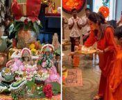 Shilpa Shetty Celebrating Durga Ashtami with Family; WATCH VIDEO<br/><br/>#ShilpaShetty #DurgaAshtami2021