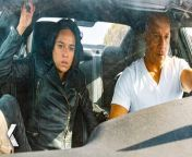 """Fast & Furious 9 Vin Diesel Michelle Rodriguez Charlize Theron Review Spoiler Discussion<br/><br/>Genre: Action Thriller<br/>Cast: Vin Diesel, Michelle Rodriguez, Tyrese Gibson, Chris """"Ludacris"""" Bridges, John Cena, Jordana Brewster, Nathalie Emmanuel, with Helen Mirren and Charlize Theron<br/>Director: Justin Lin<br/>Written by: Dan Casey<br/>Based on Characters Created by: Gary Scott Thompson<br/>Producers: Neal H. Moritz, Vin Diesel, Jeff Kirschenbaum, Joe Roth, Justin Lin, Clayton Townsend, Samantha Vincent<br/><br/>No matter how fast you are, no one outruns their past.<br/><br/>F9 is the ninth chapter in the Fast & Furious Saga, which has endured for two decades and has earned more than $5 billion around the world.<br/><br/>Vin Diesel's Dom Toretto is leading a quiet life off the grid with Letty and his son, little Brian, but they know that danger always lurks just over their peaceful horizon. This time, that threat will force Dom to confront the sins of his past if he's going to save those he loves most. His crew joins together to stop a world-shattering plot led by the most skilled assassin and high-performance driver they've ever encountered: a man who also happens to be Dom's forsaken brother, Jakob (John Cena, the upcoming The Suicide Squad).<br/><br/>F9 sees the return of Justin Lin as director, who helmed the third, fourth, fifth and sixth chapters of the series when it transformed into a global blockbuster. The action hurtles around the globe—from London to Tokyo, from Central America to Edinburgh, and from a secret bunker in Azerbaijan to the teeming streets of Tbilisi. Along the way, old friends will be resurrected, old foes will return, history will be rewritten, and the true meaning of family will be tested like never before.<br/><br/>The film stars returning cast members Michelle Rodriguez, Tyrese Gibson, Chris """"Ludacris"""" Bridges, Jordana Brewster, Nathalie Emmanuel and Sung Kang, with Oscar® winner Helen Mirren and Oscar® winner Charlize Theron. F9"""